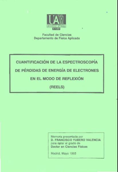 Cuantificación de la Espectroscopía de Pérdida de Energía de Electrones en el Modo de Reflexión (REELS)